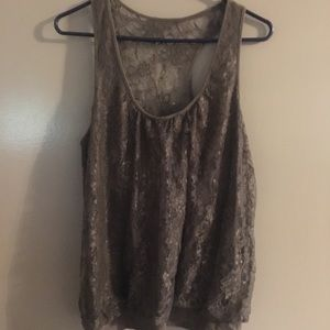 Express lace tank top